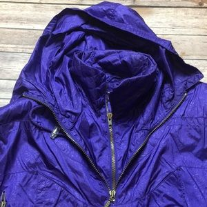 Vintage Jackets & Coats - VINTAGE PURPLE WATER RESISTANT SKI WINDBREAKER